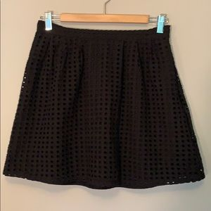 Banana Republic black eyelet mini skirt. EUC.